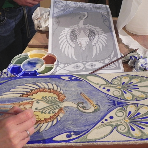 two-week fresco painting class 3