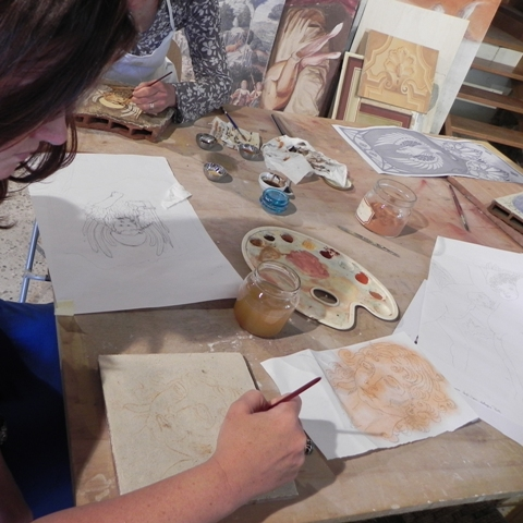 two-week fresco painting class