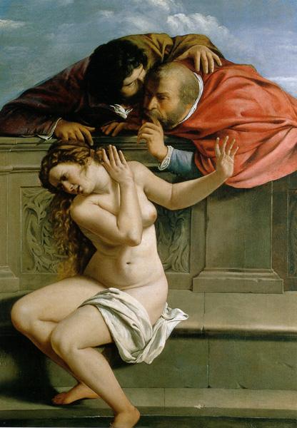 Artemisia Gentileschi. Susanna e i Vecchioni, 1610. Pommersfelden, coll Graf von Schonborn