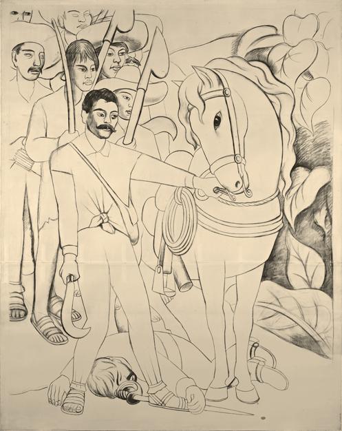 Diego Rivera. Agrarian Leader Zapata. 1931