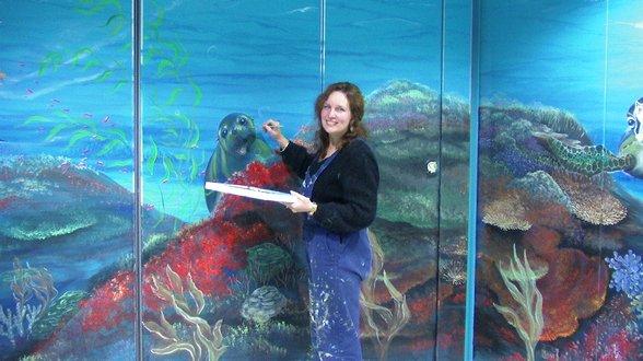 Modern and contemporary mural paintings ortolan studio - Moderne fresco ...